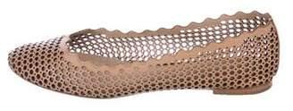 Chloé Leather Cut Out Flats
