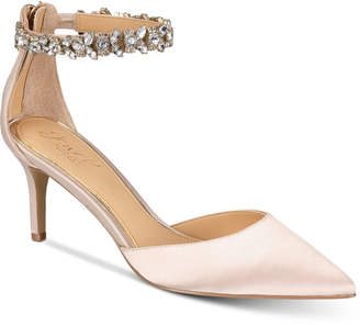 Badgley Mischka Audrey Embellished Ankle Strap Evening Pumps, Created for Macy's