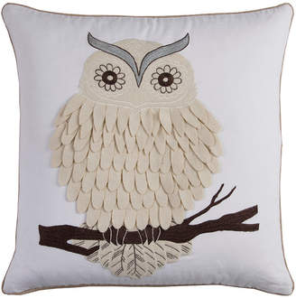 "Rizzy Home White 20"" X 20"" Owl Poly Filled Pillow"