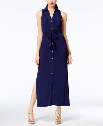MICHAEL Michael Kors Maxi Shirtdress $140 thestylecure.com