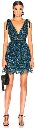 Self-Portrait Self Portrait Tiered Sequin Mini Dress