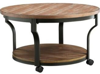 Williston Forge Brann Round Metal Framed Coffee Table Williston Forge
