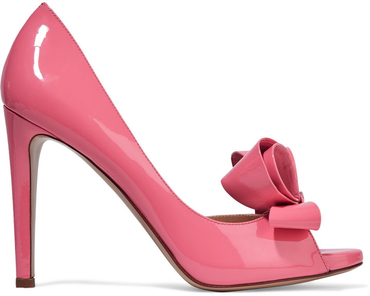 Valentino Valentino Bow-detailed patent-leather pumps