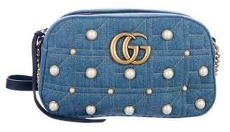 Gucci Denim GG Marmont Shoulder Bag