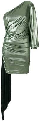 Alexandre Vauthier metallic one-shoulder dress