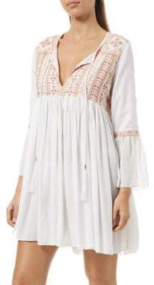 Melissa Odabash Natalia Pleated Shirt Dress
