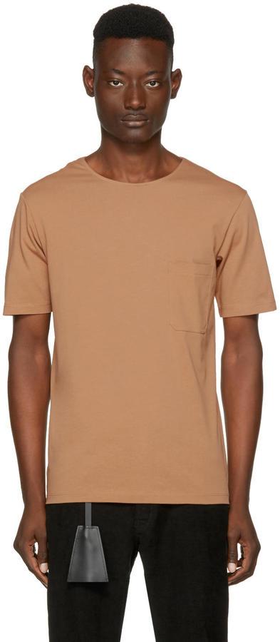 Lemaire Tan Crewneck T-shirt