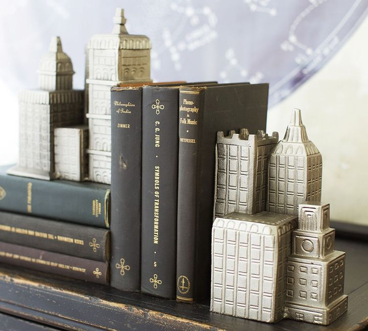 Pottery Barn Cityscape Bookends, Set of 2
