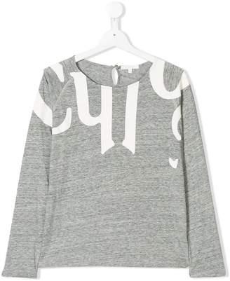 Chloé Kids logo print jumper