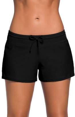 Trunks Imbry Women's Plus Size Swim Swimsuit Tankini Bottom Board Shorts (XL, )