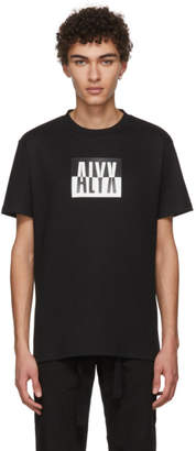 1017 Alyx 9SM Black Colorblock Logo T-Shirt