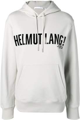 Helmut Lang contrast logo hoodie