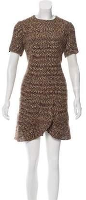 Chloé Wool-Blend Bouclé Dress