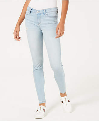 Celebrity Pink Juniors' Ripped Light Wash Skinny Jeans