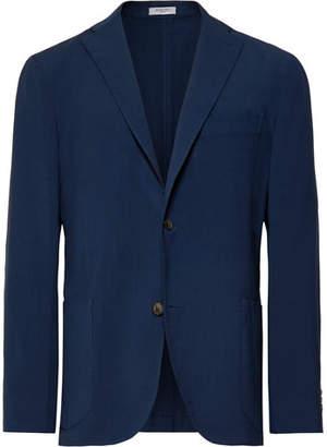 Boglioli Blue Unstructured Virgin Wool Blazer