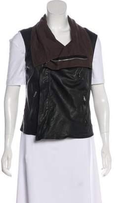 Rick Owens Leather Zip-Up Vest