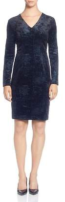 T Tahari Foil Print Velour Dress