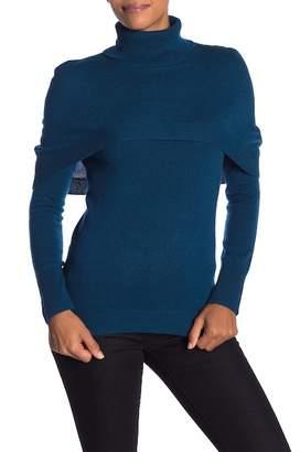 Sofia Cashmere Cashmere Capelet Turtleneck Sweater