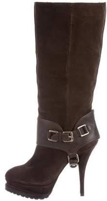 Elizabeth and James Pointed-Toe Platform Boots