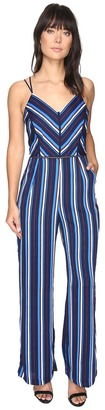 Adelyn Rae - Cynthia Woven Striped Jumpsuit Women's Jumpsuit & Rompers One Piece $103 thestylecure.com