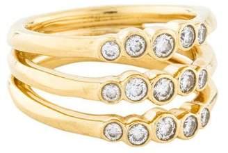 Ippolita 18K Diamond Glamazon Stardust Triple Starlet Ring