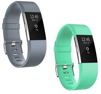 Fitbit EEEkit 2 Packs Soft Silicone Sport Replacement Accessories Bands Wrist Strap for Charge 2