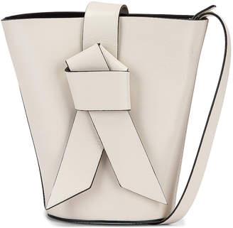 Acne Studios Musubi Bucket Bag in White & Black | FWRD