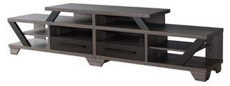 """HOMES: Inside + Out 82"""" Harla Contemporary TV Stand Distressed Gray - ioHOMES"""