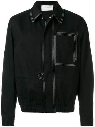 Cédric Charlier contrast stitch jacket