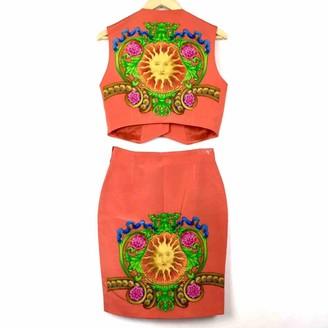 Gianni Versace Orange Dress for Women Vintage