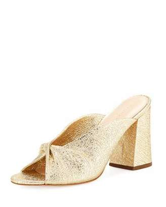 Loeffler Randall Laurel Crinkle Metallic Mule Sandal