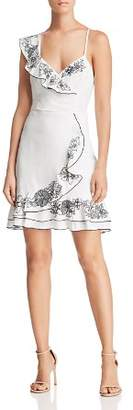 Parker Jay Asymmetric Embroidered Dress