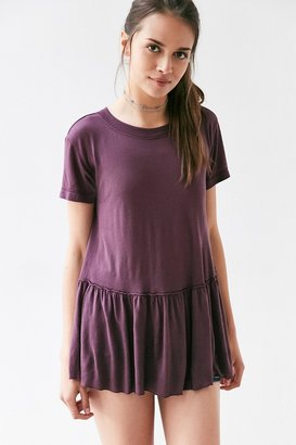 Truly Madly Deeply Dusty Road Peplum Tee Dress $39 thestylecure.com