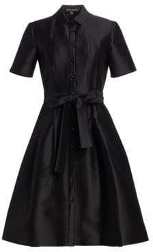 Carolina Herrera Mikado Satin Shirtdress