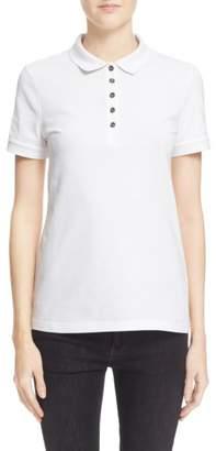 Burberry Check Trim Pique Polo Shirt