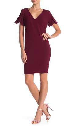 Alexia Admor Tulip Sleeve Surplice Neck Dress