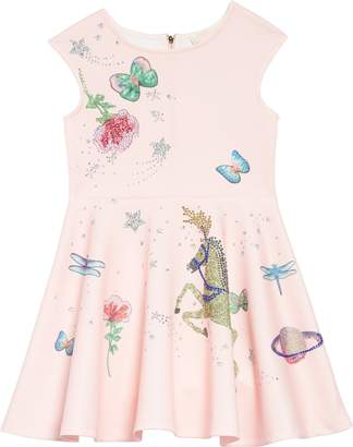 Truly Me Whimsical Embellished Fit & Flare Dress