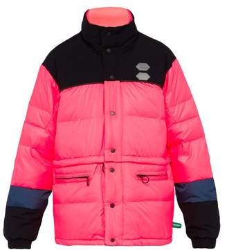 Off-White Off White Detachable Hem Down Filled Jacket - Mens - Pink