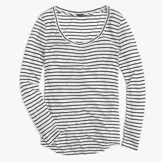 J.Crew 10 percent long-sleeve T-shirt in stripe