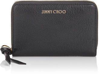 Jimmy Choo CHRISTIE Black Soft Grained Goat Leather Wallet