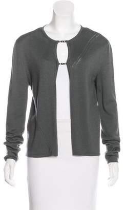 Gucci Wool Rib Knit Cardigan