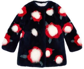 Yves Salomon Polka Dot Fur Coat