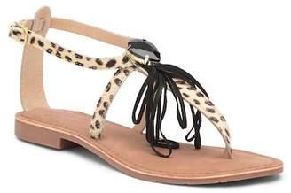 SJS Cordelia Genuine Pony Hair Flat Sandal