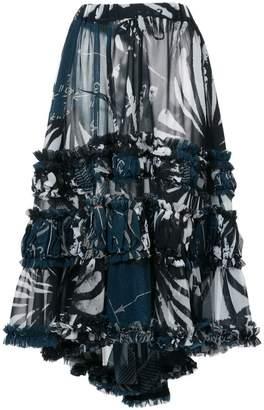 Comme des Garcons printed asymmetric skirt