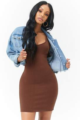 Forever 21 Ribbed Bodycon Mini Dress