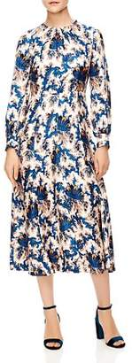 Sandro Carna Silk Midi Dress