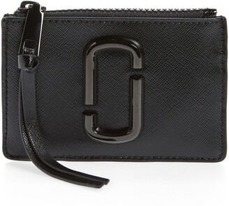 Marc Jacobs Saffiano Leather ID Wallet