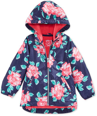 Carter's Little Girls' and Toddler Girls' Floral-Printed Rain Jacket $46 thestylecure.com