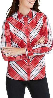 Foxcroft Tina Campbell Tartan Shirt