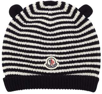 Moncler Ears Wool Knit Beanie